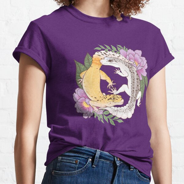 Leopard Geckos and Peony Classic T-Shirt