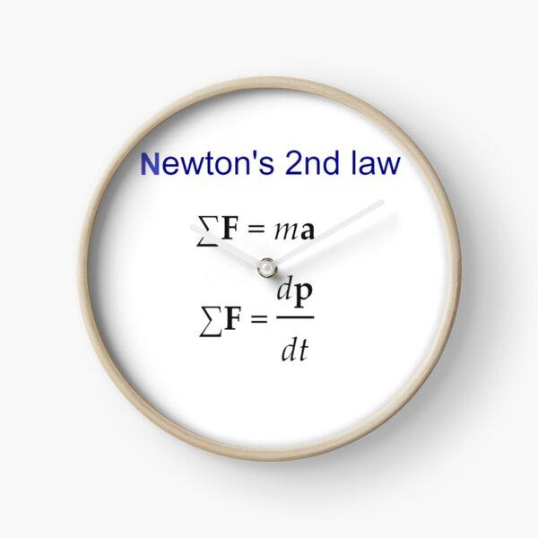 #Newton's Second Law, #NewtonsSecondLaw #Equation of #Motion, Velocity, Acceleration, Physics, Mechanics Clock