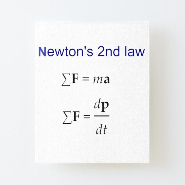 #Newton's Second Law, #NewtonsSecondLaw #Equation of #Motion, Velocity, Acceleration, Physics, Mechanics Canvas Mounted Print