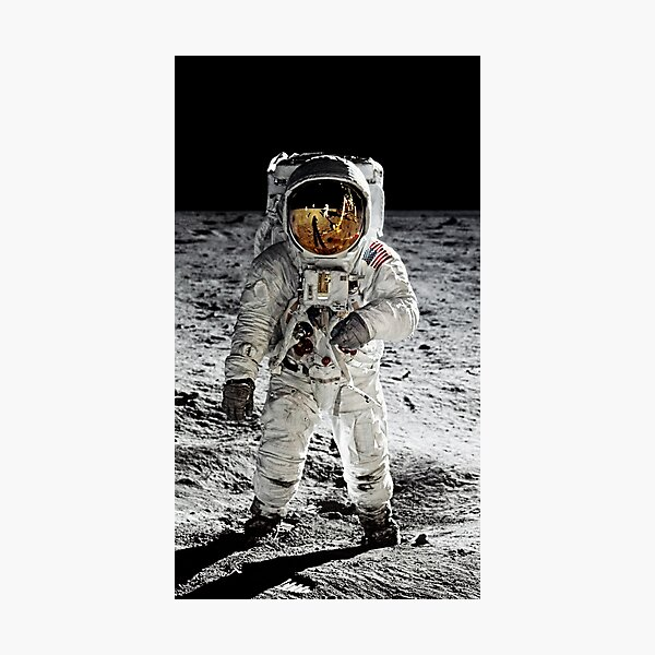 Aldrin on the Moon Photographic Print