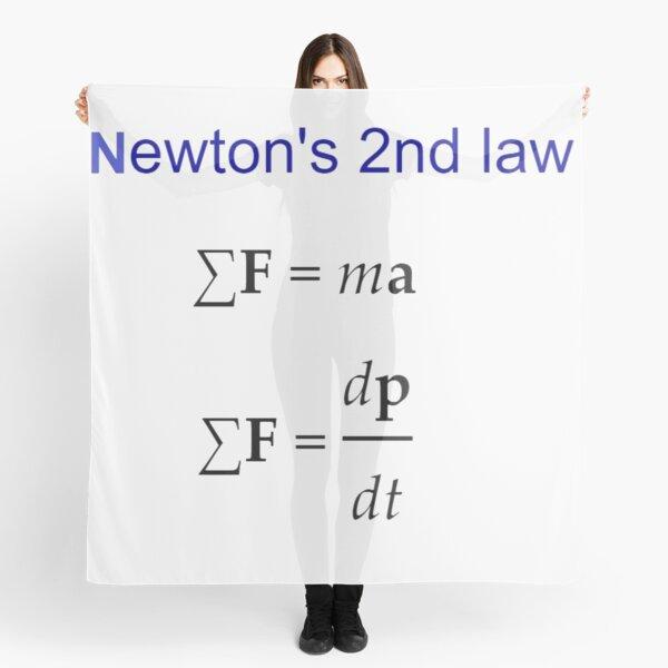 #Newton's Second Law, #NewtonsSecondLaw #Equation of #Motion, Velocity, Acceleration, Physics, Mechanics Scarf