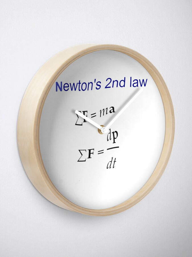 Alternate view of #Newton's Second Law, #NewtonsSecondLaw #Equation of #Motion, Velocity, Acceleration, Physics, Mechanics Clock