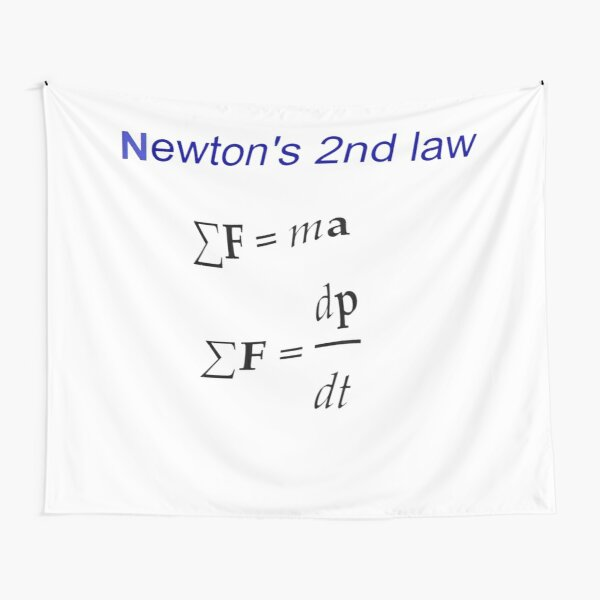#Newton's Second Law, #NewtonsSecondLaw #Equation of #Motion, Velocity, Acceleration, Physics, Mechanics Tapestry
