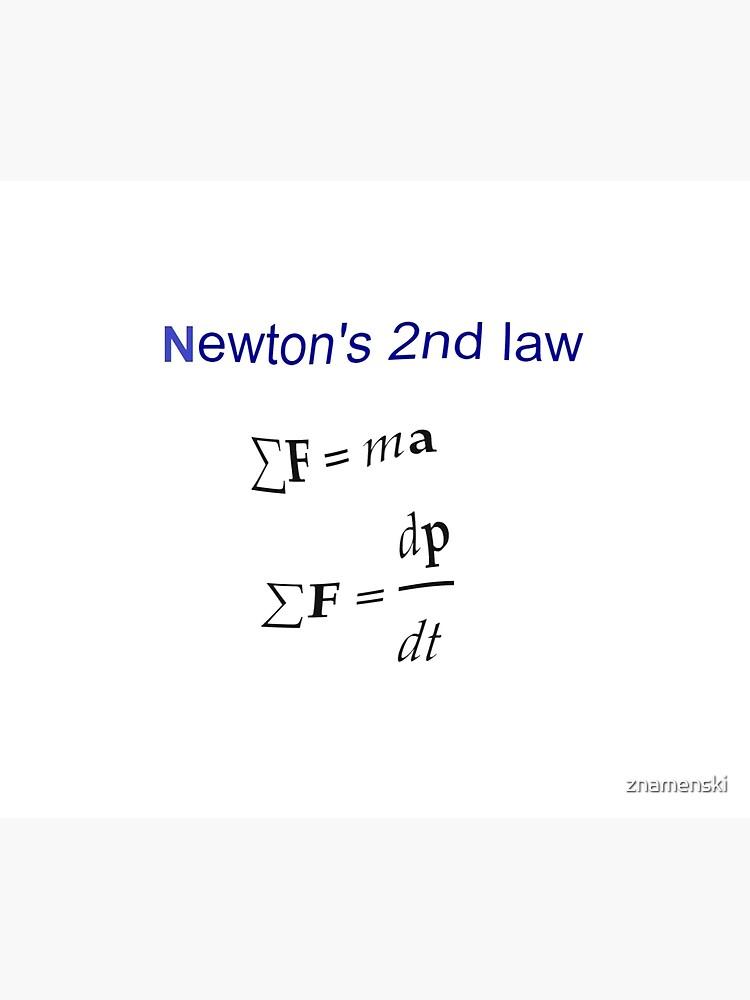 #Newton's Second Law, #NewtonsSecondLaw #Equation of #Motion, Velocity, Acceleration, Physics, Mechanics by znamenski