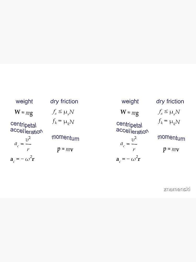 #Weight, Dry #Friction, Centripetal #Acceleration, #Momentum, Newton's Second Law, Equation of Motion, Velocity, Physics, Mechanics by znamenski
