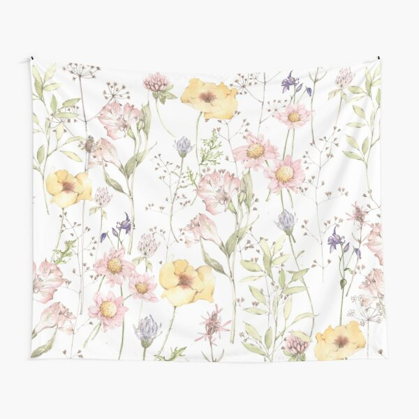 Pretty Wildflowers Tapestry