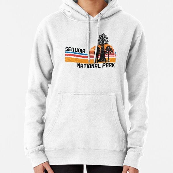 Vintage Sequoia National Park California Retro Sequoia Tree Pullover Hoodie