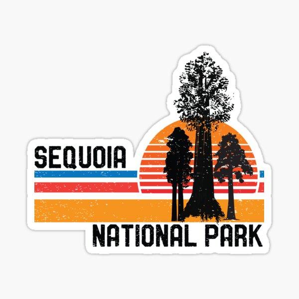 Vintage Sequoia National Park California Retro Sequoia Tree Sticker