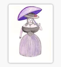 Exaggerated Victorian Era Lady  Sticker