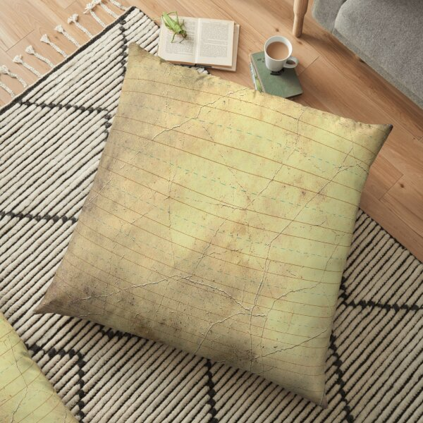 Paper Masks, Pants, Shirts - Fun Paper Print Floor Pillow