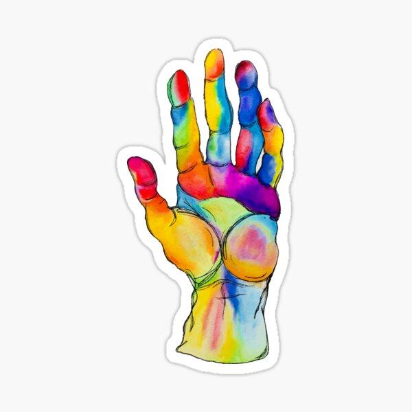 Watercolor Hand Sticker