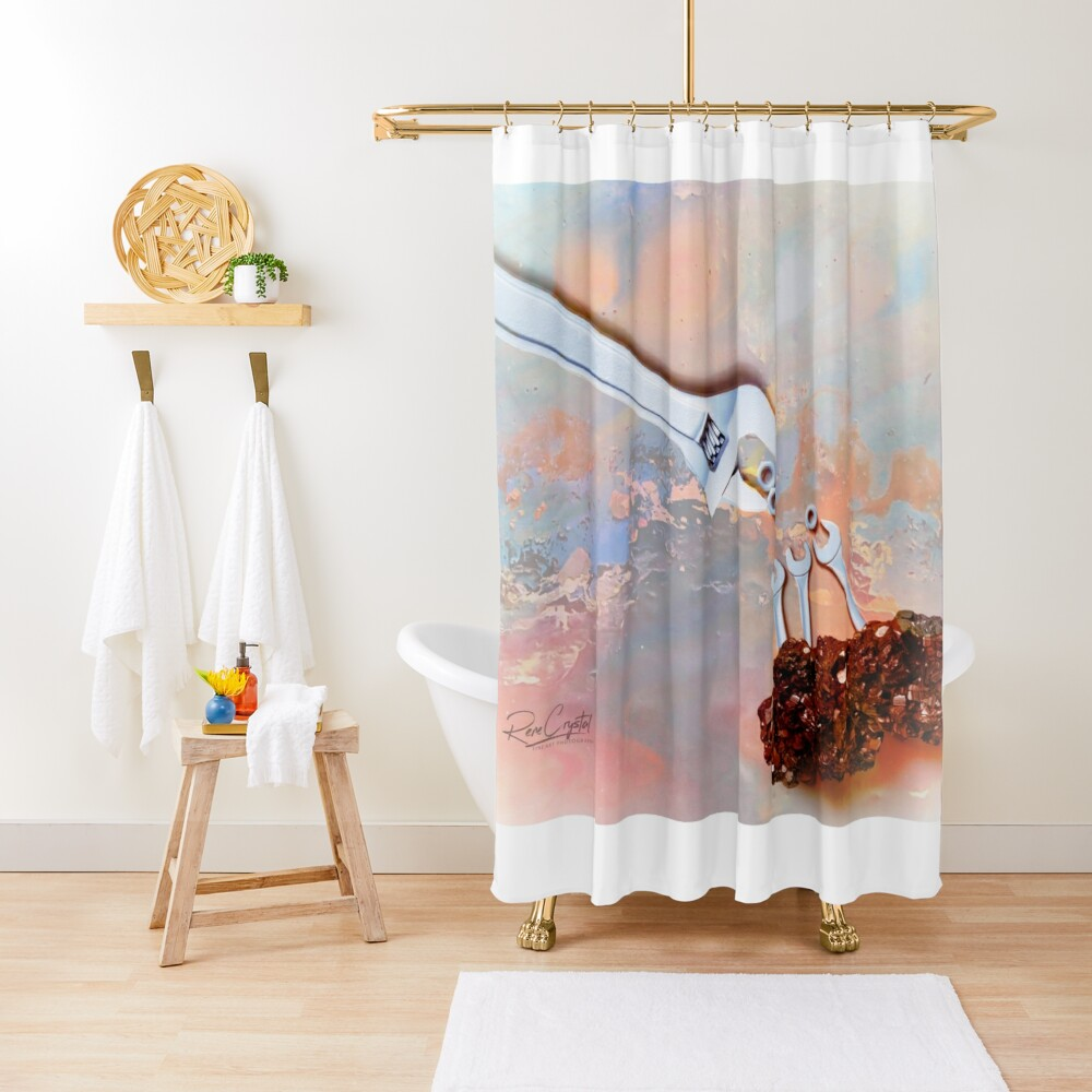 Meanwhile At the Wrench Farm... Shower Curtain
