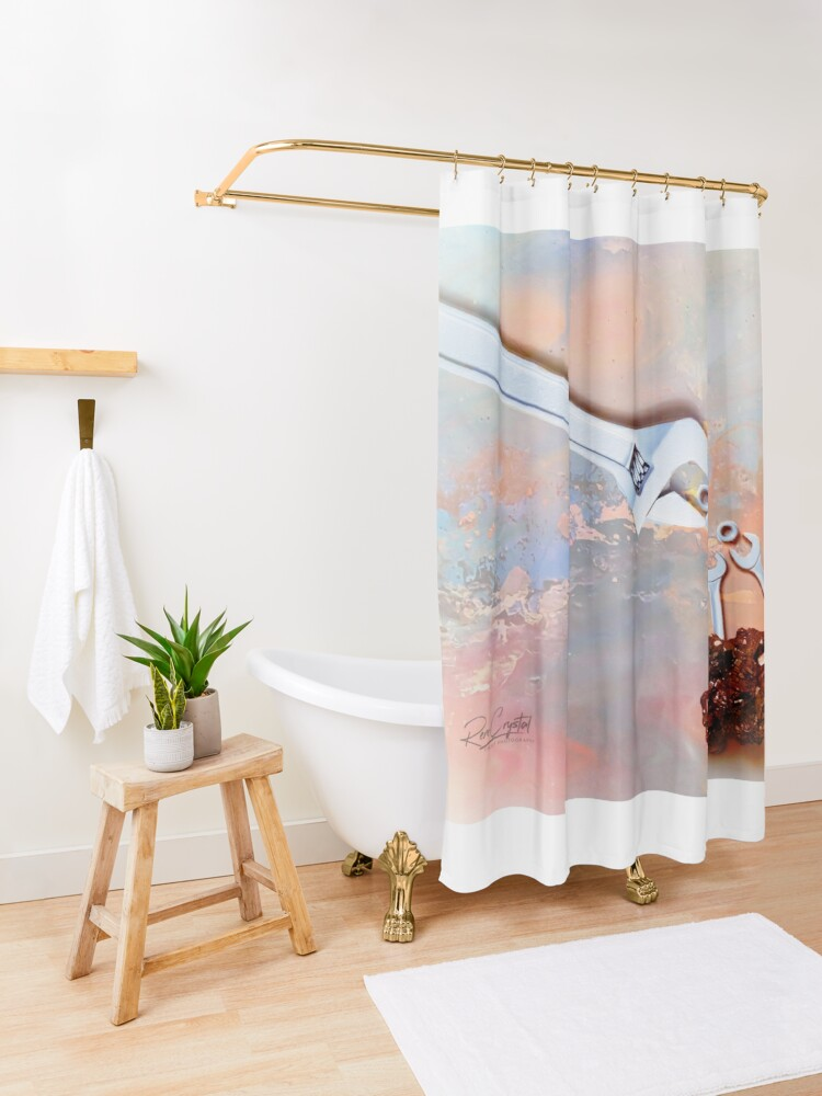 Alternate view of Meanwhile At the Wrench Farm... Shower Curtain