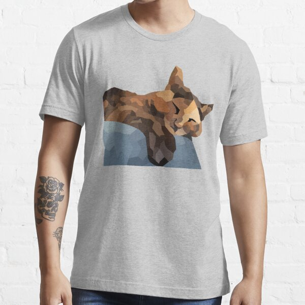 Tortoiseshell / Tortie cat portrait - Low Poly Essential T-Shirt