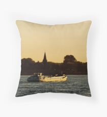 Going down the River Waal Throw Pillow