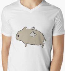 Flying Hamster Men's V-Neck T-Shirt