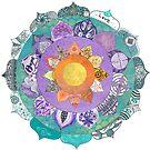 Community Mandala - Radiant Lotus Mandala by 100mandalas