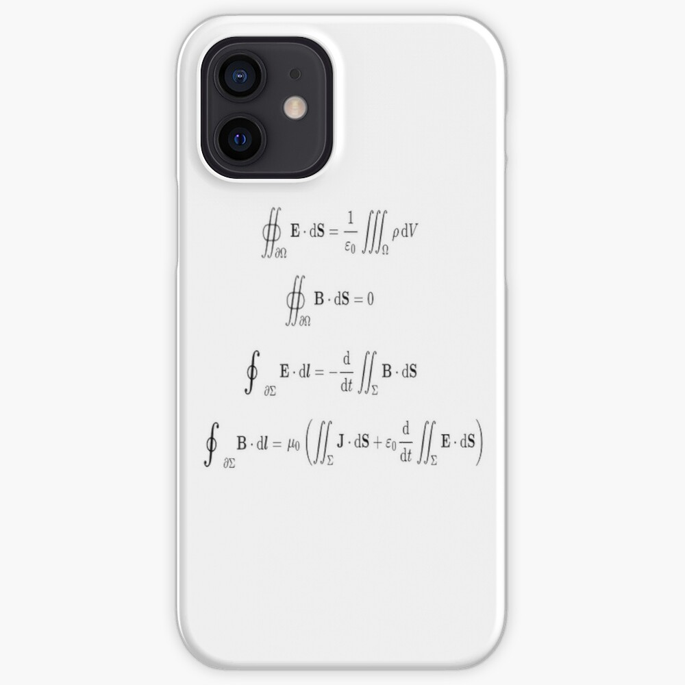 Maxwell's equations, #Maxwells, #equations, #MaxwellsEquations, Maxwell, equation, MaxwellEquations, #Physics, Electricity, Electrodynamics, Electromagnetism iPhone Case & Cover