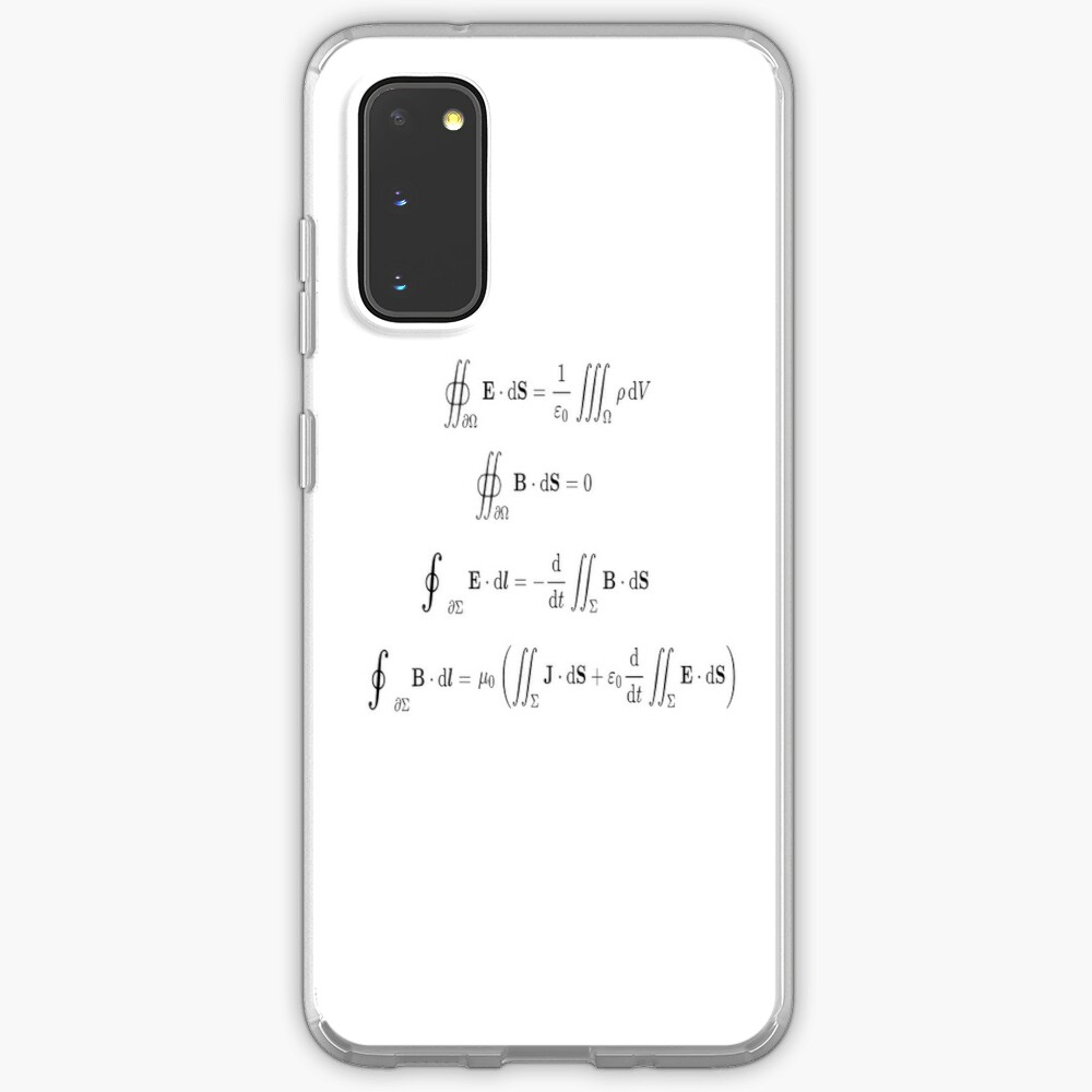 Maxwell's equations, #Maxwells, #equations, #MaxwellsEquations, Maxwell, equation, MaxwellEquations, #Physics, Electricity, Electrodynamics, Electromagnetism Case & Skin for Samsung Galaxy