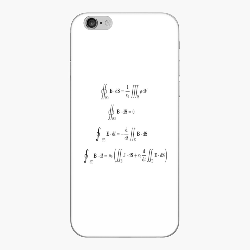 Maxwell's equations, #Maxwells, #equations, #MaxwellsEquations, Maxwell, equation, MaxwellEquations, #Physics, Electricity, Electrodynamics, Electromagnetism iPhone Skin