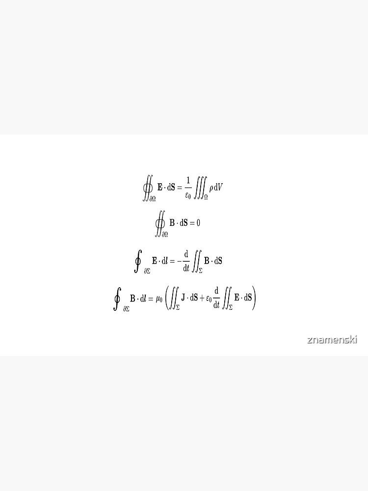 Maxwell's equations, #Maxwells, #equations, #MaxwellsEquations, Maxwell, equation, MaxwellEquations, #Physics, Electricity, Electrodynamics, Electromagnetism by znamenski