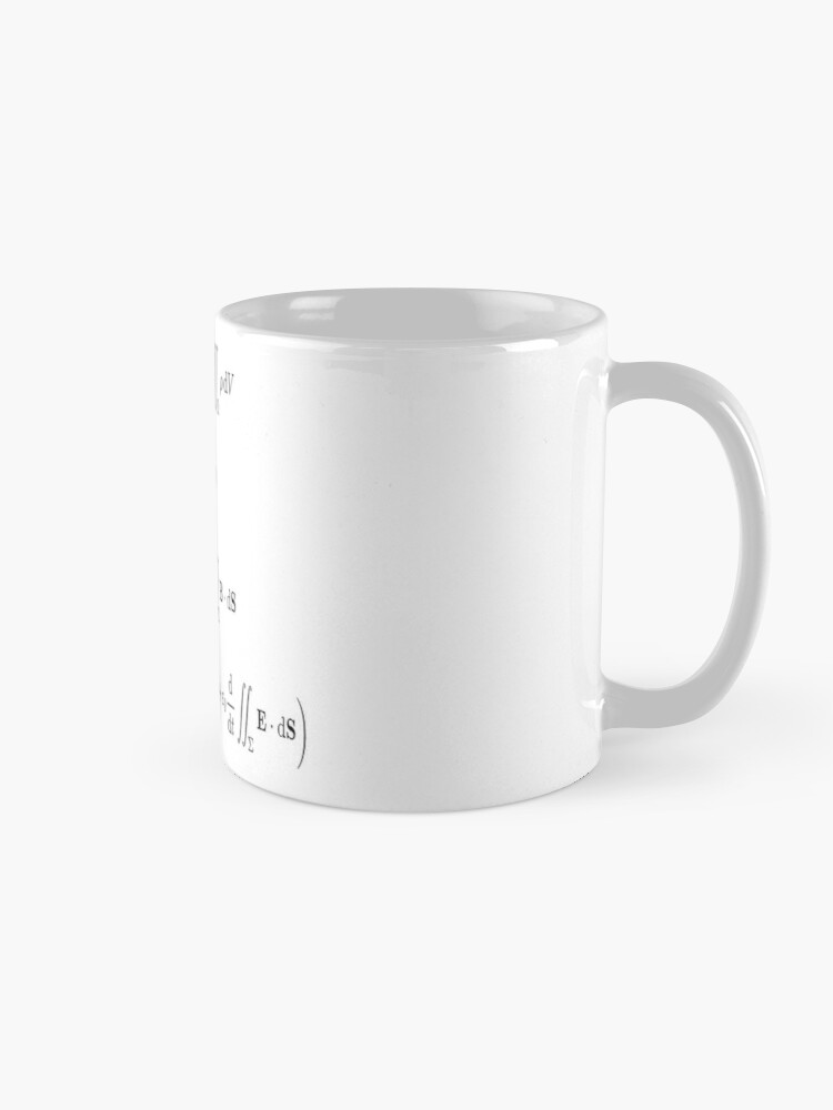 Alternate view of Maxwell's equations, #Maxwells, #equations, #MaxwellsEquations, Maxwell, equation, MaxwellEquations, #Physics, Electricity, Electrodynamics, Electromagnetism Mug