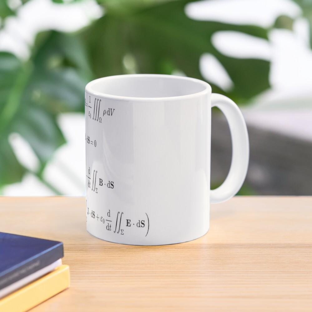 Maxwell's equations, #Maxwells, #equations, #MaxwellsEquations, Maxwell, equation, MaxwellEquations, #Physics, Electricity, Electrodynamics, Electromagnetism Mug