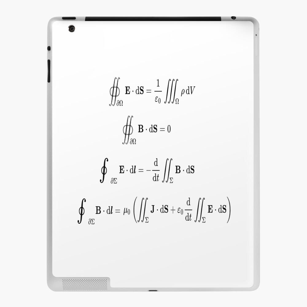 Maxwell's equations, #Maxwells, #equations, #MaxwellsEquations, Maxwell, equation, MaxwellEquations, #Physics, Electricity, Electrodynamics, Electromagnetism iPad Case & Skin