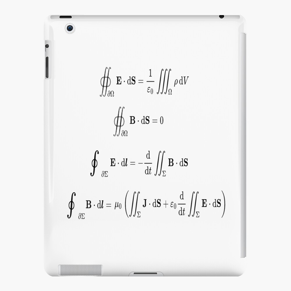 Maxwell's equations, #Maxwells, #equations, #MaxwellsEquations, Maxwell, equation, MaxwellEquations, #Physics, Electricity, Electrodynamics, Electromagnetism iPad Case & Skin