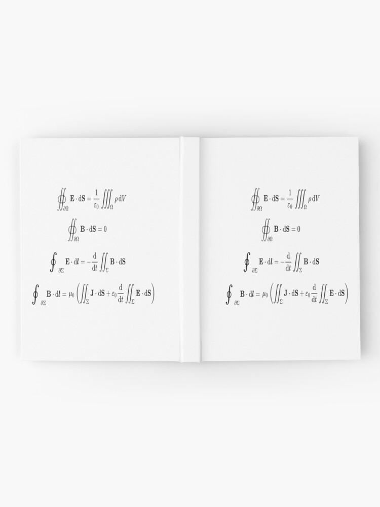 Alternate view of Maxwell's equations, #Maxwells, #equations, #MaxwellsEquations, Maxwell, equation, MaxwellEquations, #Physics, Electricity, Electrodynamics, Electromagnetism Hardcover Journal
