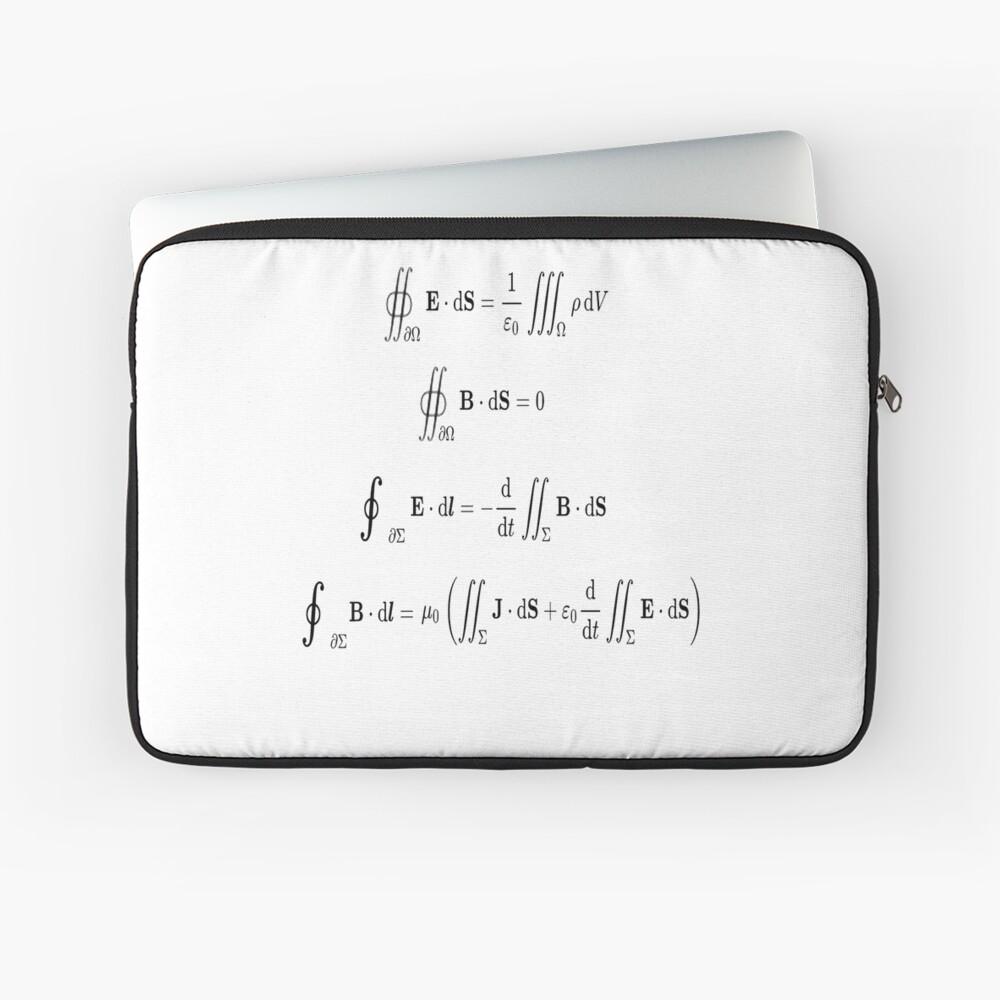 Maxwell's equations, #Maxwells, #equations, #MaxwellsEquations, Maxwell, equation, MaxwellEquations, #Physics, Electricity, Electrodynamics, Electromagnetism Laptop Sleeve