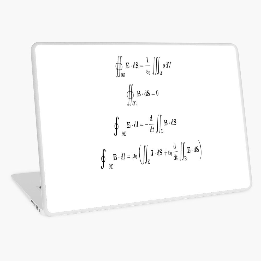 Maxwell's equations, #Maxwells, #equations, #MaxwellsEquations, Maxwell, equation, MaxwellEquations, #Physics, Electricity, Electrodynamics, Electromagnetism Laptop Skin