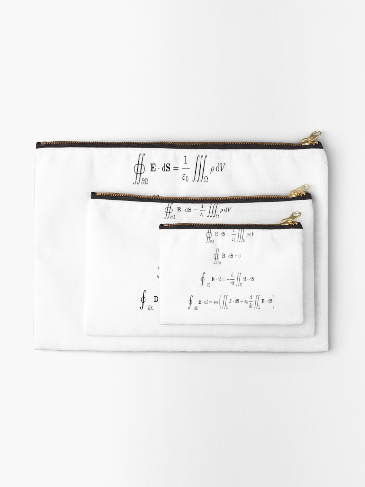 Alternate view of Maxwell's equations, #Maxwells, #equations, #MaxwellsEquations, Maxwell, equation, MaxwellEquations, #Physics, Electricity, Electrodynamics, Electromagnetism Zipper Pouch