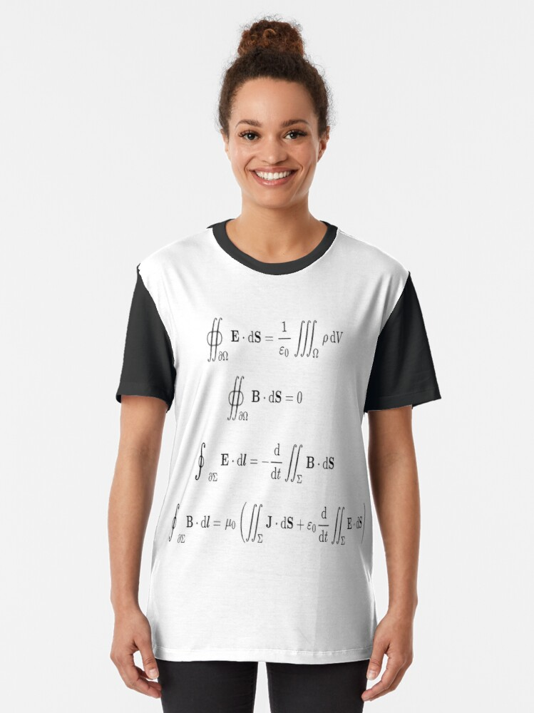 Alternate view of Maxwell's equations, #Maxwells, #equations, #MaxwellsEquations, Maxwell, equation, MaxwellEquations, #Physics, Electricity, Electrodynamics, Electromagnetism Graphic T-Shirt
