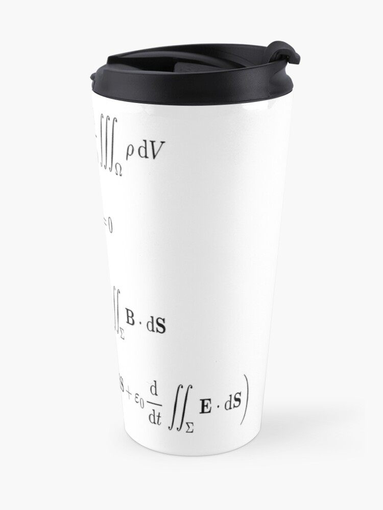 Alternate view of Maxwell's equations, #Maxwells, #equations, #MaxwellsEquations, Maxwell, equation, MaxwellEquations, #Physics, Electricity, Electrodynamics, Electromagnetism Travel Mug