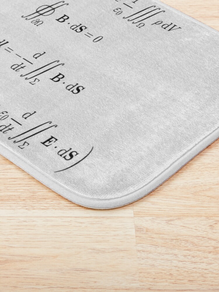 Alternate view of Maxwell's equations, #Maxwells, #equations, #MaxwellsEquations, Maxwell, equation, MaxwellEquations, #Physics, Electricity, Electrodynamics, Electromagnetism Bath Mat