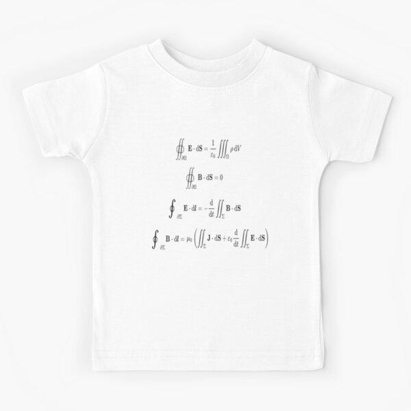 Maxwell's equations, #Maxwells, #equations, #MaxwellsEquations, Maxwell, equation, MaxwellEquations, #Physics, Electricity, Electrodynamics, Electromagnetism Kids T-Shirt