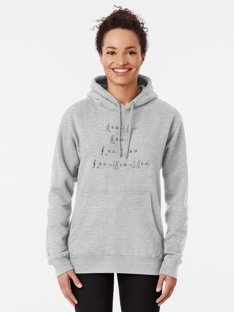 Alternate view of Maxwell's equations, #Maxwells, #equations, #MaxwellsEquations, Maxwell, equation, MaxwellEquations, #Physics, Electricity, Electrodynamics, Electromagnetism Pullover Hoodie