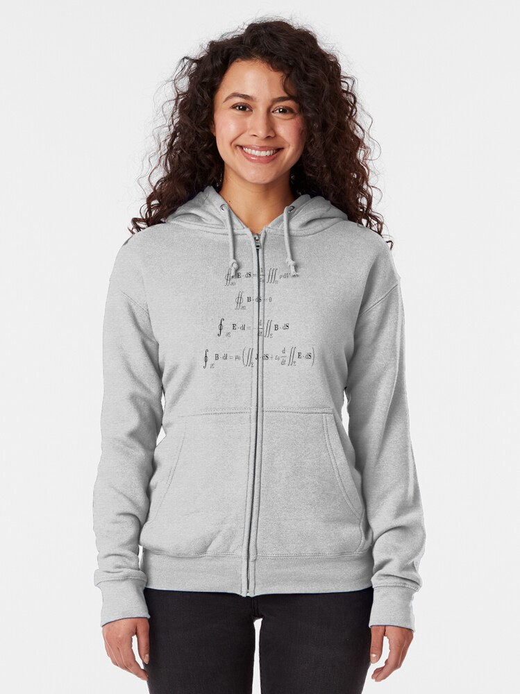 Alternate view of Maxwell's equations, #Maxwells, #equations, #MaxwellsEquations, Maxwell, equation, MaxwellEquations, #Physics, Electricity, Electrodynamics, Electromagnetism Zipped Hoodie