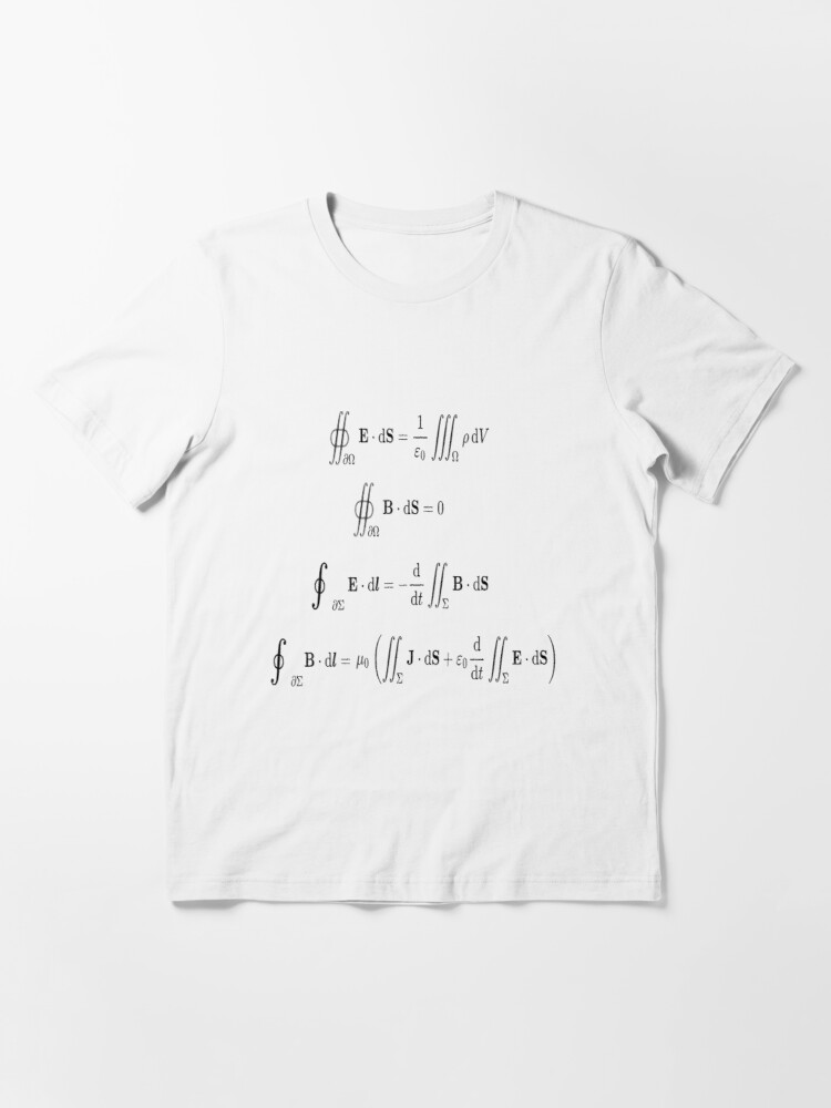 Alternate view of Maxwell's equations, #Maxwells, #equations, #MaxwellsEquations, Maxwell, equation, MaxwellEquations, #Physics, Electricity, Electrodynamics, Electromagnetism Essential T-Shirt