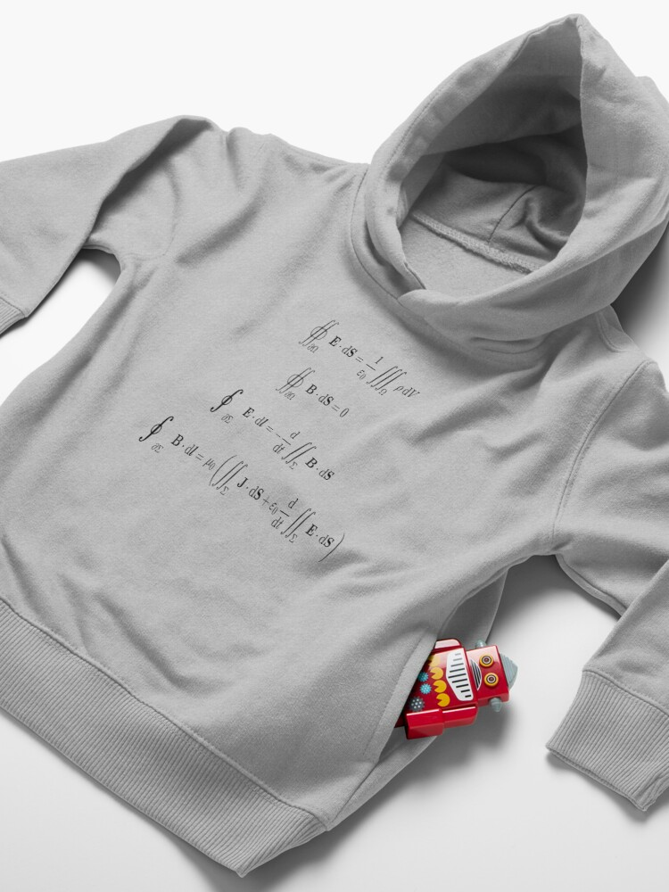 Alternate view of Maxwell's equations, #Maxwells, #equations, #MaxwellsEquations, Maxwell, equation, MaxwellEquations, #Physics, Electricity, Electrodynamics, Electromagnetism Toddler Pullover Hoodie