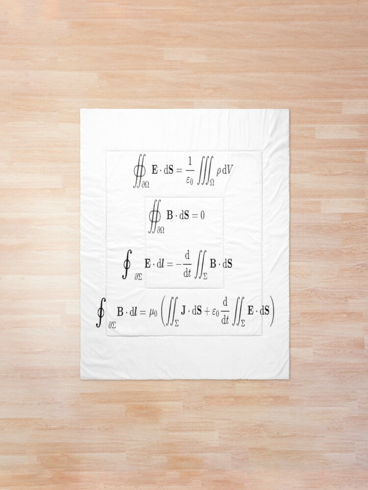 Alternate view of Maxwell's equations, #Maxwells, #equations, #MaxwellsEquations, Maxwell, equation, MaxwellEquations, #Physics, Electricity, Electrodynamics, Electromagnetism Comforter