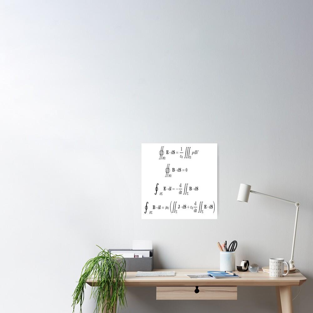 Maxwell's equations, #Maxwells, #equations, #MaxwellsEquations, Maxwell, equation, MaxwellEquations, #Physics, Electricity, Electrodynamics, Electromagnetism Poster