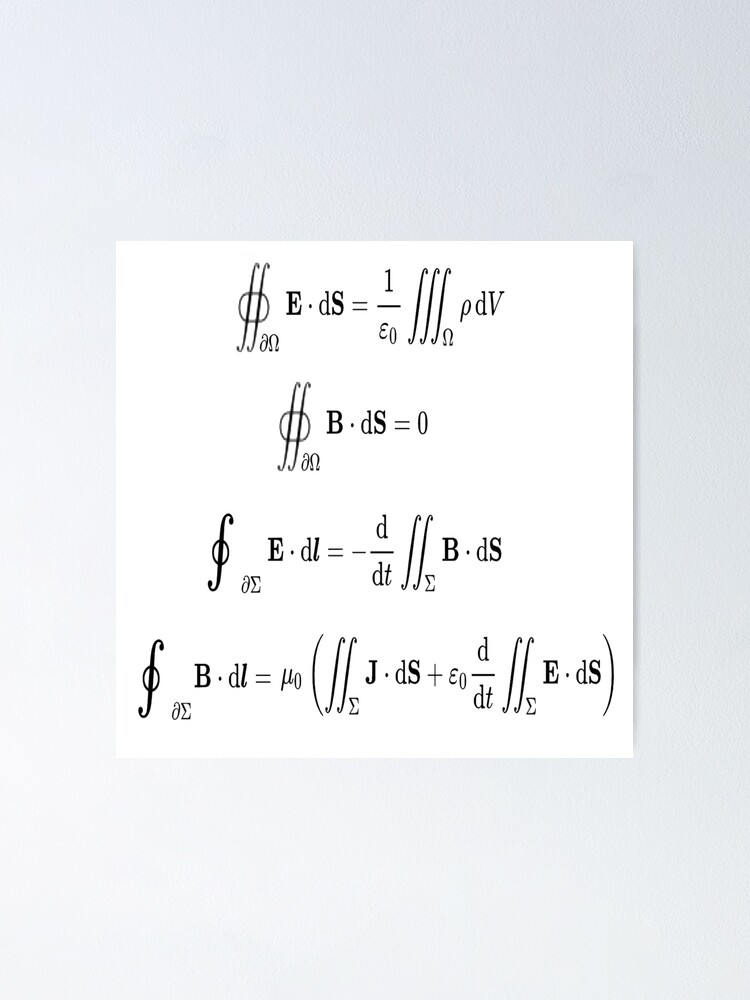 Alternate view of Maxwell's equations, #Maxwells, #equations, #MaxwellsEquations, Maxwell, equation, MaxwellEquations, #Physics, Electricity, Electrodynamics, Electromagnetism Poster
