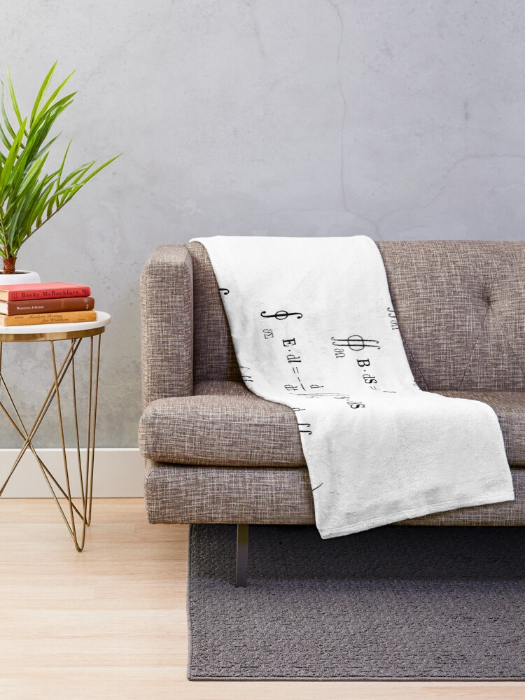 Alternate view of Maxwell's equations, #Maxwells, #equations, #MaxwellsEquations, Maxwell, equation, MaxwellEquations, #Physics, Electricity, Electrodynamics, Electromagnetism Throw Blanket