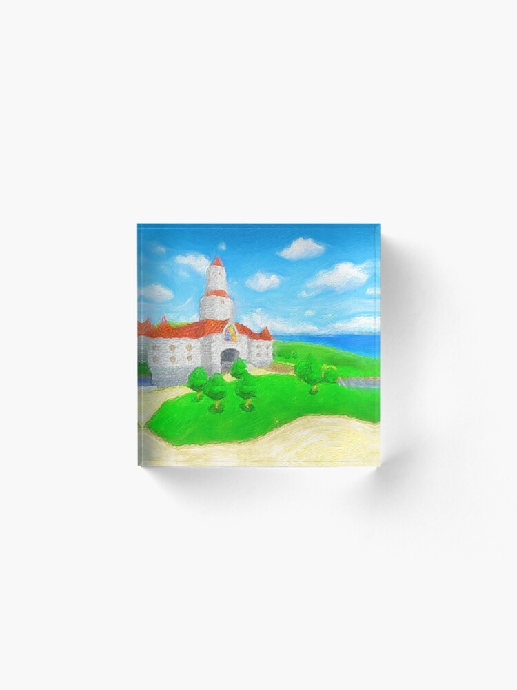 Alternate view of Peach's Castle Painting Acrylic Block