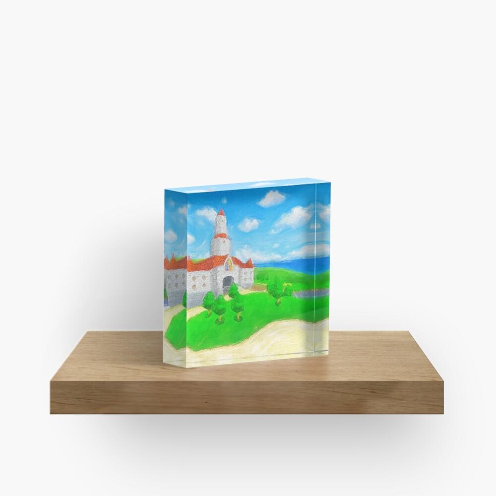 Peach's Castle Painting Acrylic Block