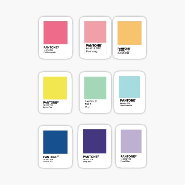 Nuancier Mini Pantone Sticker