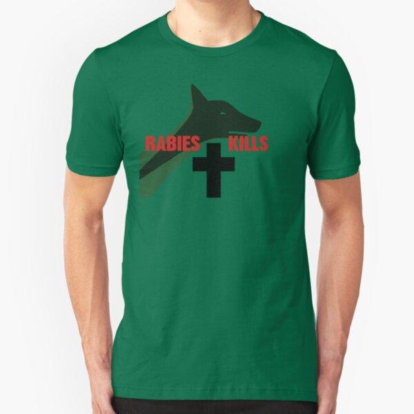 NDVH Rabies Kills Slim Fit T-Shirt