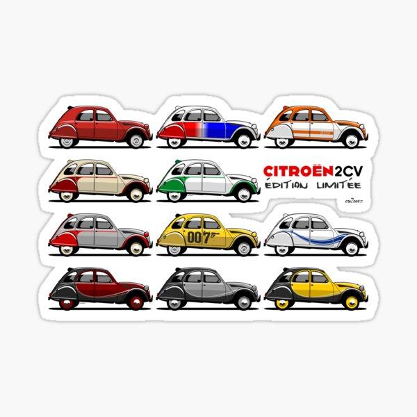 Citroën 2CV éditions limitées Sticker